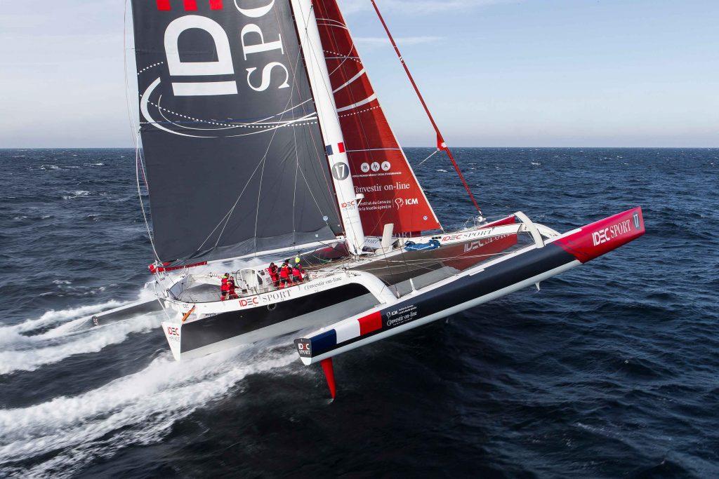 Francis Joyon round the world sailing record.