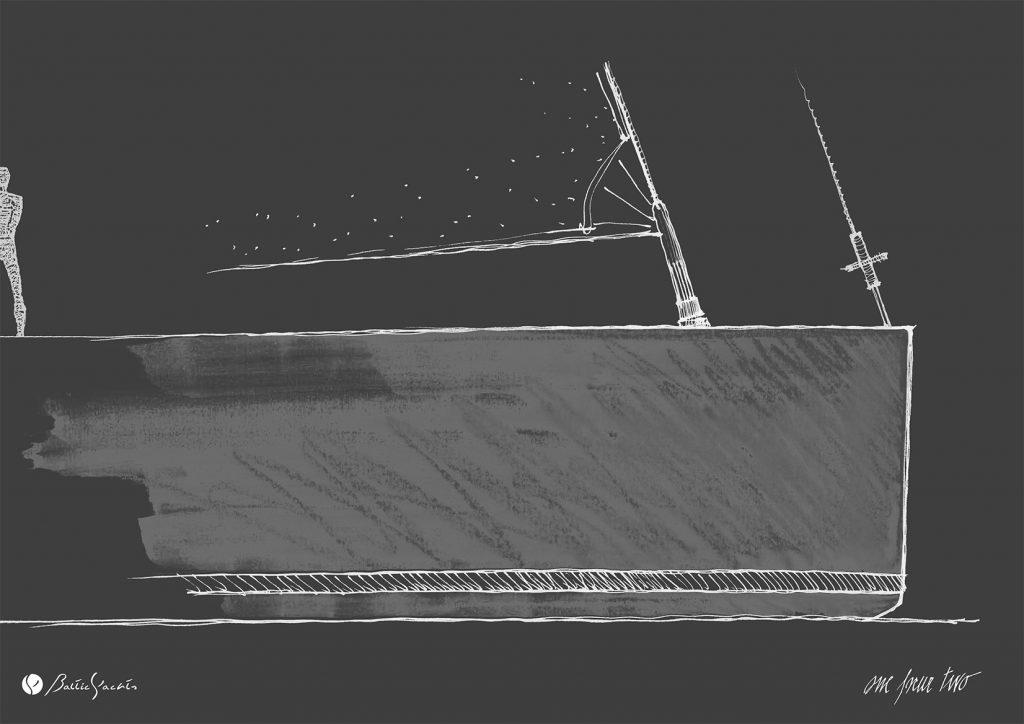 Lucio Micheletti Baltic 142 bow