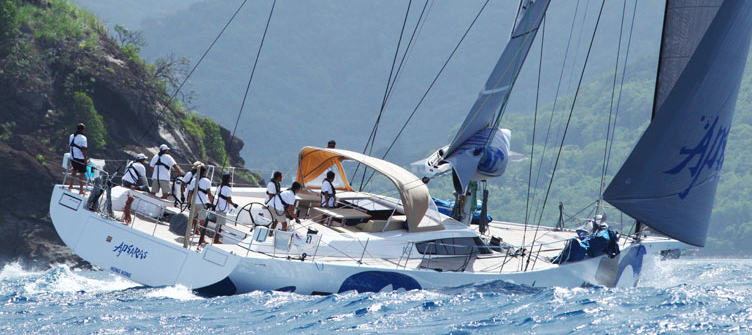 Advanced Yachts A80 Apsaras in the ocean
