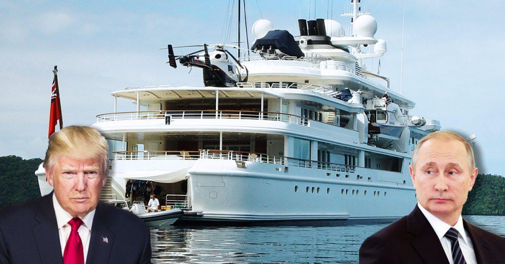 Donald Trump Putin Russian Yacht