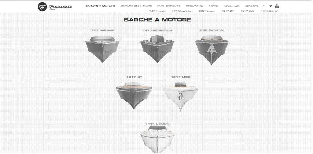 Frauscher Boats website