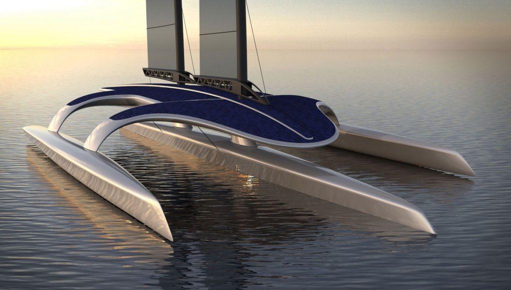 solar-powered Mayflower trimaran drones
