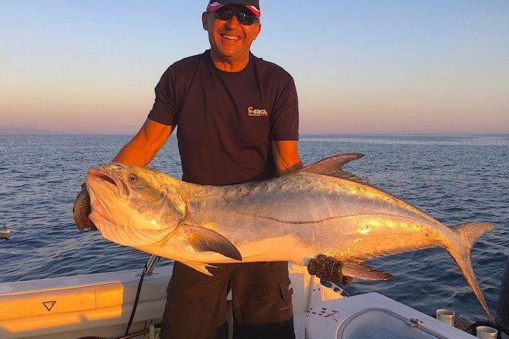 Garrick fishing with Maurizio Pastacaldi