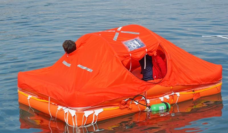 Arimar Oceanus PG life raft test
