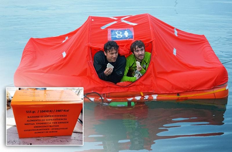 Arimar life raft food kit
