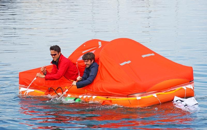 Arimar life raft paddle strokes