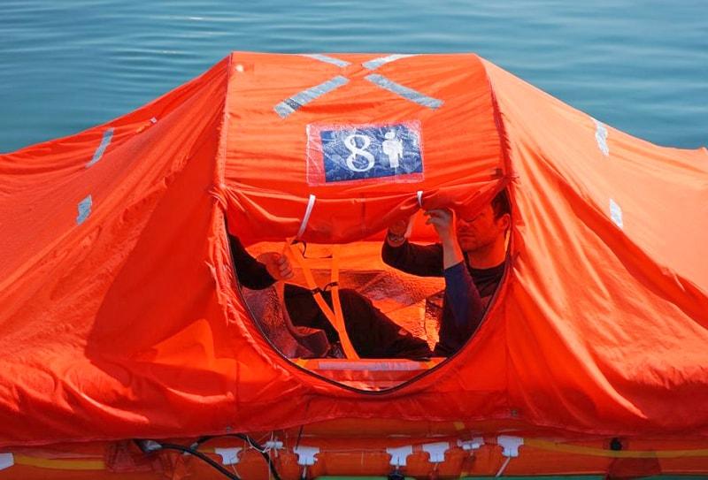 Arimar life raft test 2
