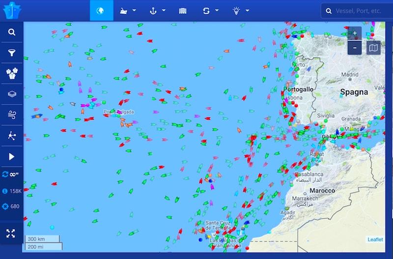 marine traffic situation