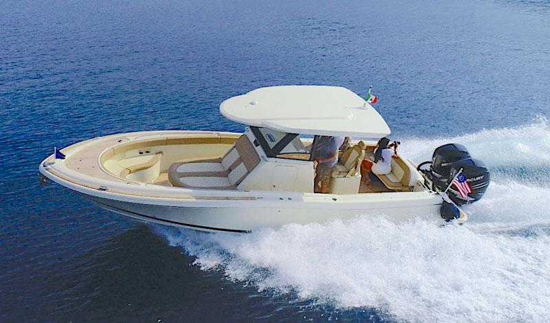 Chris Craft Catalina 30 sea trial