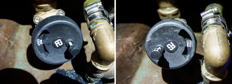 Guidi valves, safety lock