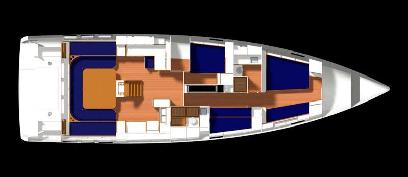 Gulliver 57, layout
