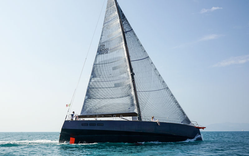 Gulliver 57, sails