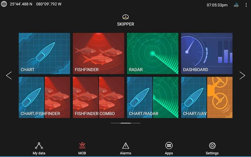 Axiom UAV multifunction display