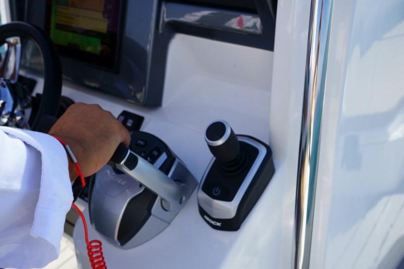 Evinrude Idock system, joystick