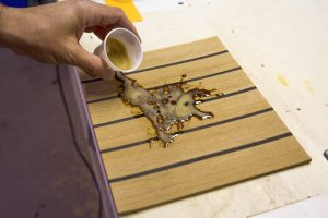 Flexiteek stain-proof solution, coffee 1