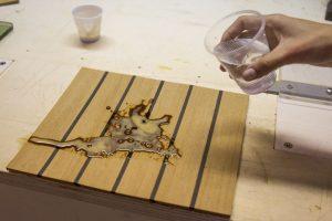 Flexiteek stain-proof solution, coffee 2