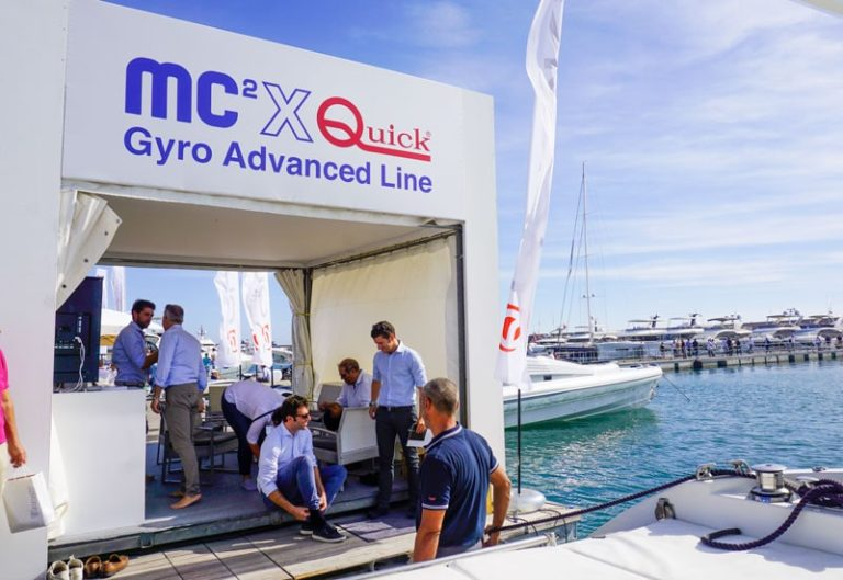 Quick's booth at Genoa Boat Show