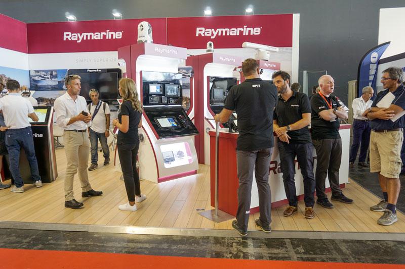 Raymarine booth at Genoa Boat Show