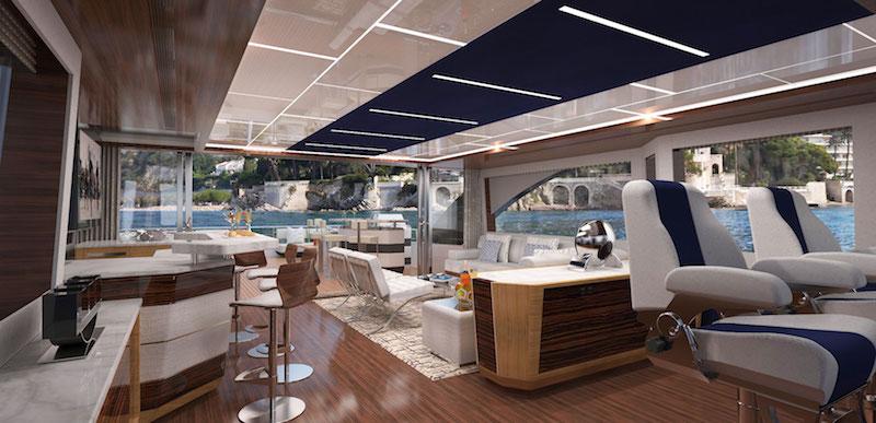 Ocean Alexander 90R, pilot house