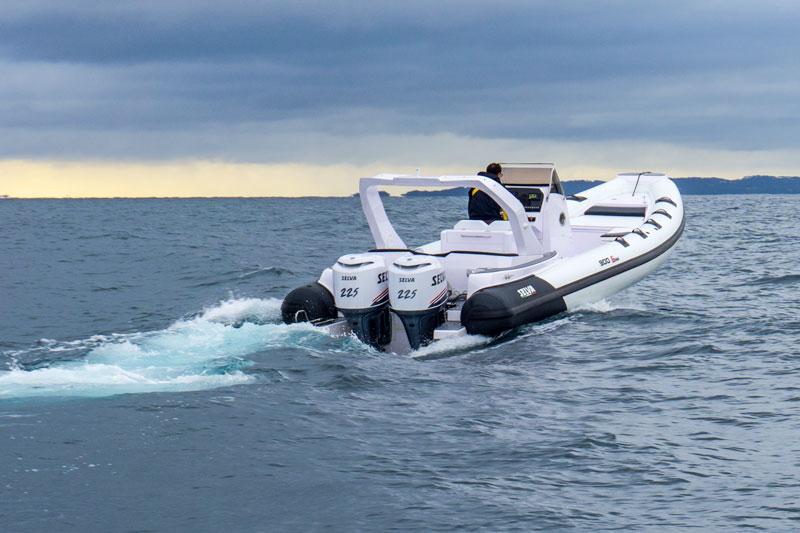Selva Marine D.900 Special Sea Trial, departure