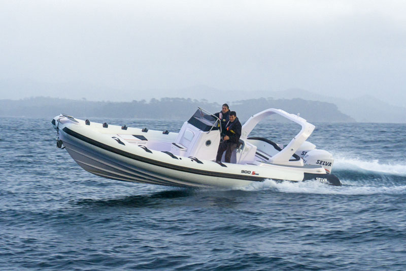 Selva Marine D.900 Special Sea Trial, turn