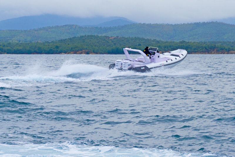 Selva Marine D.900 Special Sea Trial, turns