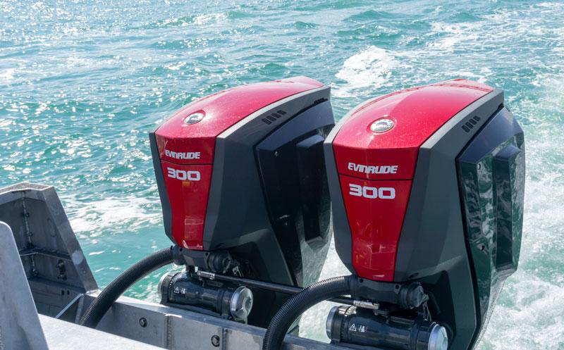 Evinrude300 sea trial