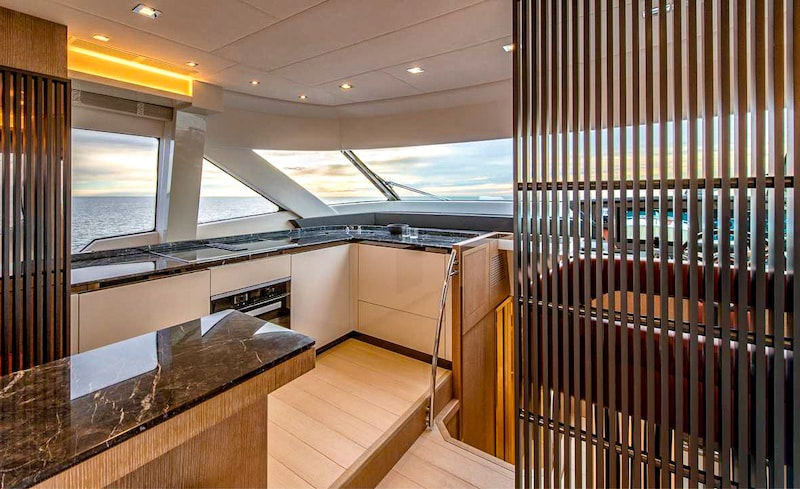 Montecarlo Yachts MCY 70, galley