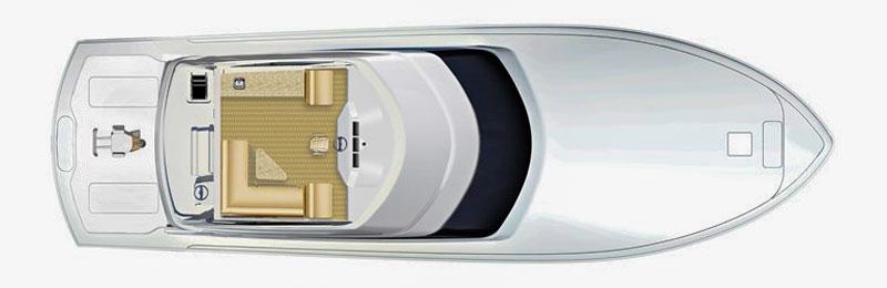 Hatteras GT 70, layout 2