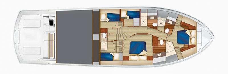 Hatteras GT 70, layout 4