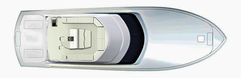 Hatteras GT 70, layout