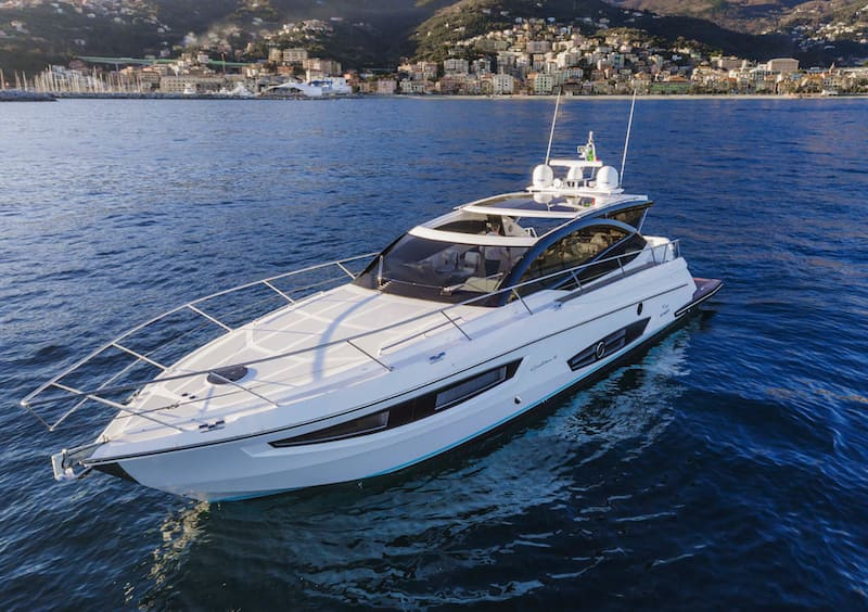 Rio Yachts Sport Coupe 56, bow