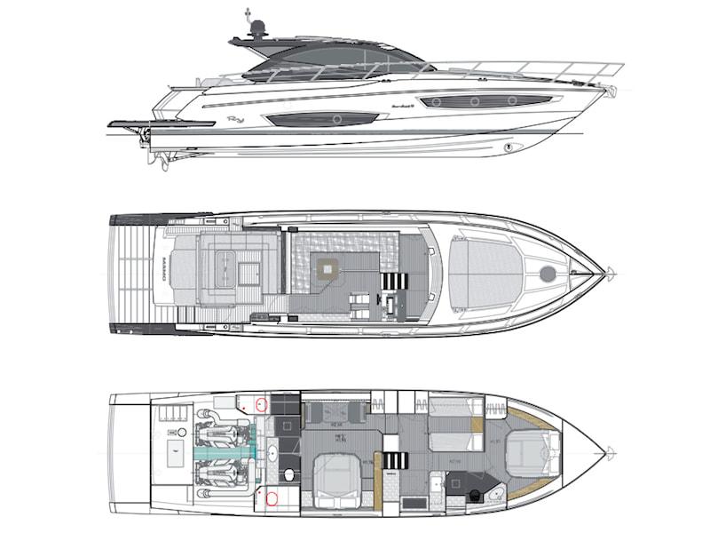 Rio Yachts Sport Coupè 56, layout