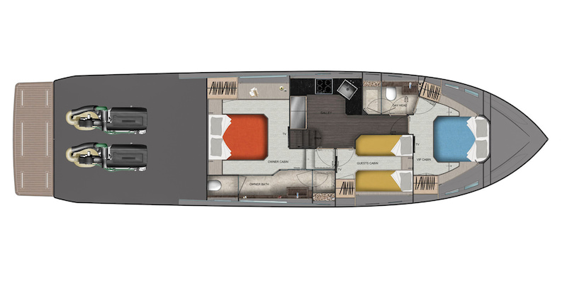 Uniesse 56 SS, layout 3