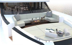 Ocean Alexander 84R bow deck