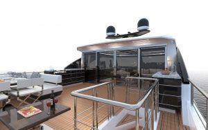 Ocean Alexander 84R upper open deck
