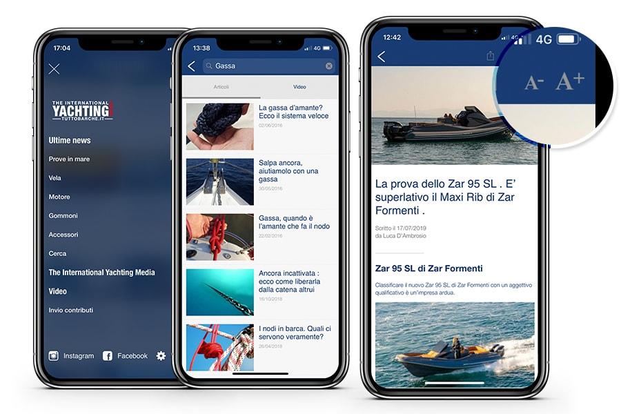 Tuttobarche App articles