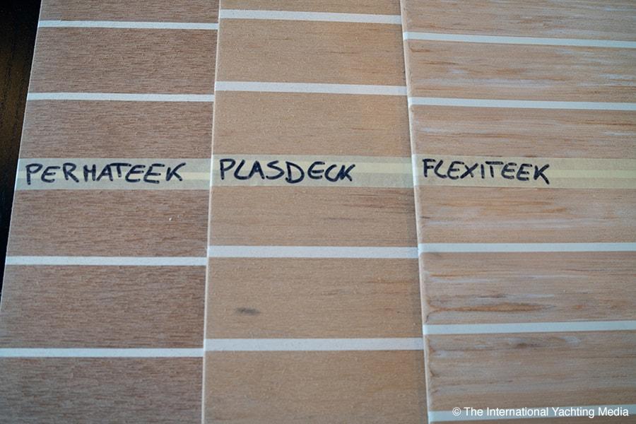 synthetic teak comparative deck, aestetics