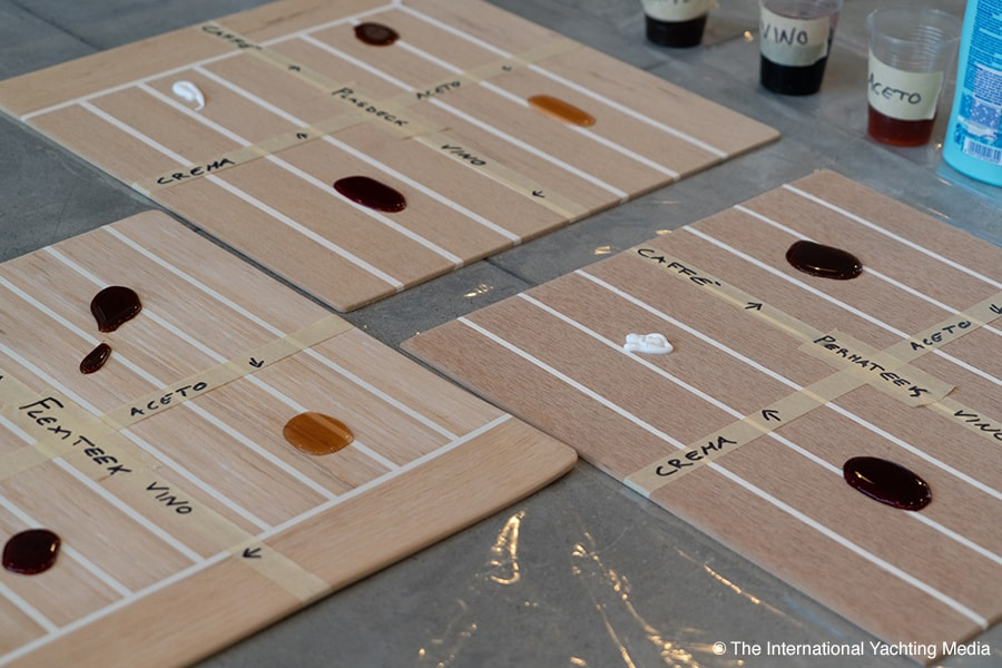 synthetic teak decking comparative test