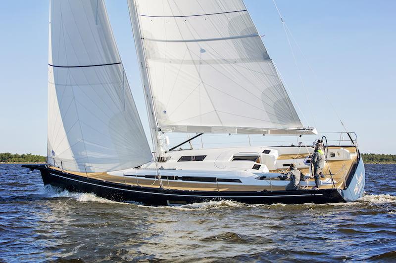 Swan 48, upwind