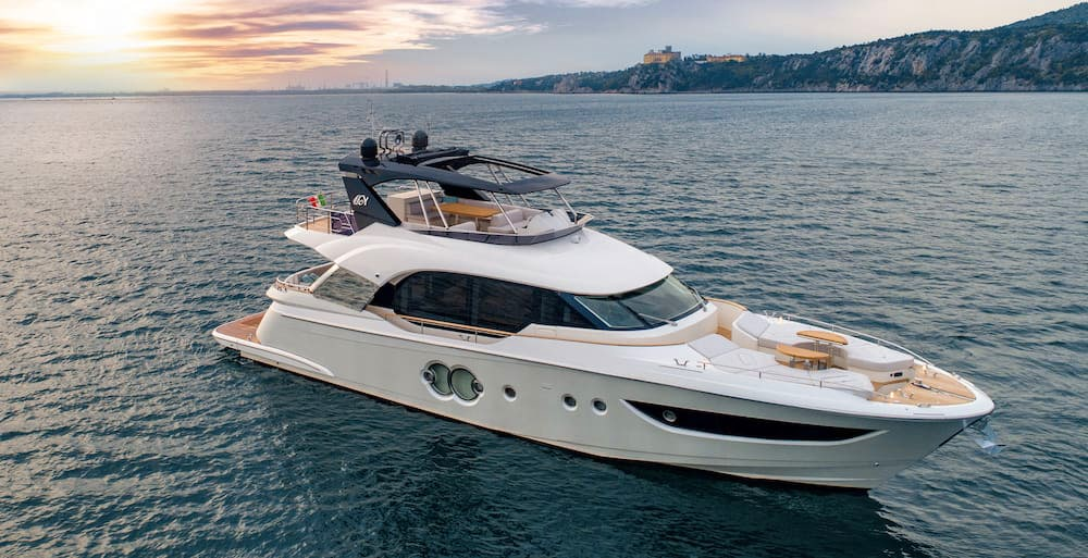 MCY 70 Sea trial