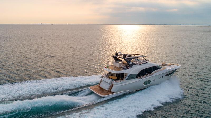 MCY 70 at sea