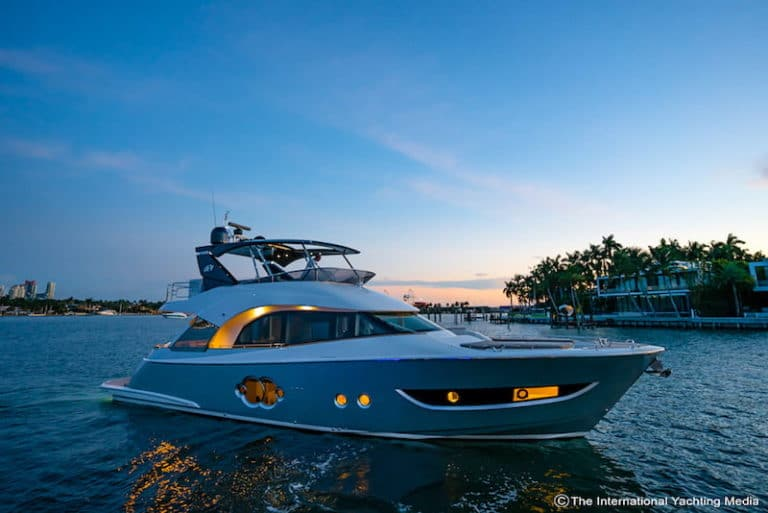 MC2 Quick Gyro X25 Test on board the Monte Carlo yachts MCY66