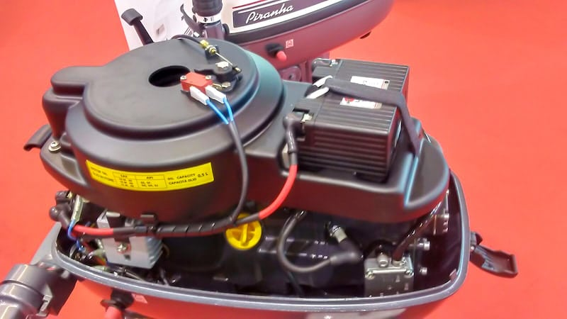 electric starter with built-in battery
