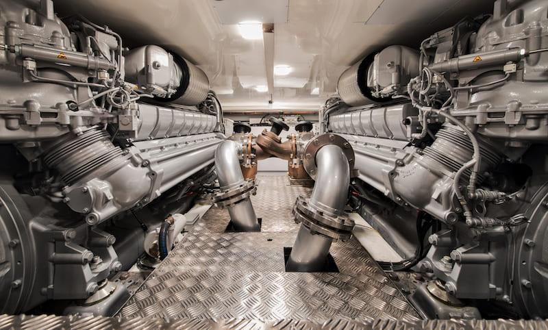 MCY105 Engine room
