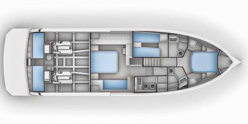 Pardo Endurance 60, lower deck