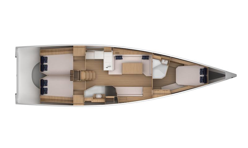 GS 44 Performance, interior layout