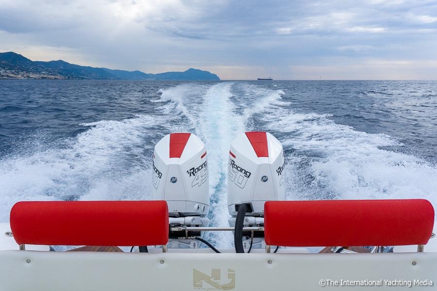 Mercury 450R at sea