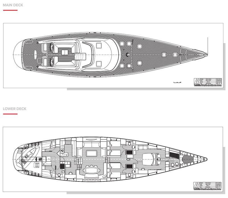 SY Concordia, layout