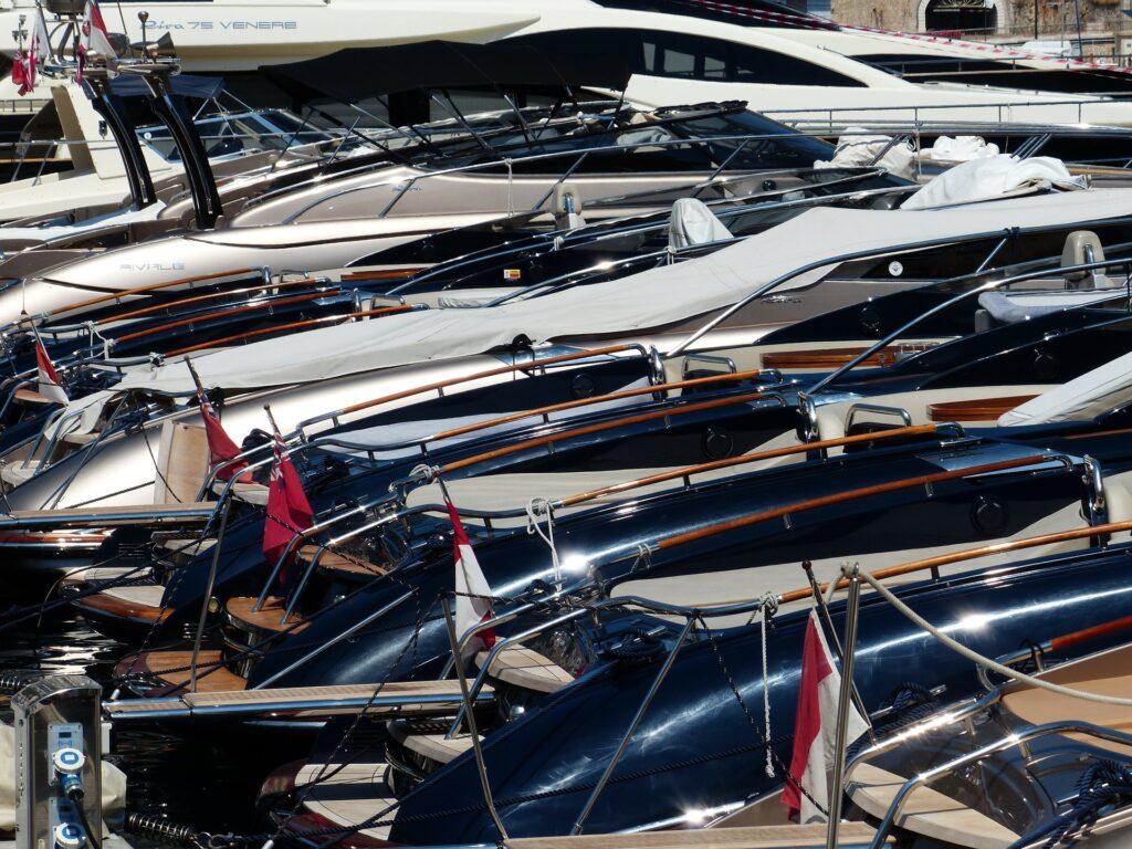 Monaco Yacht Show boats